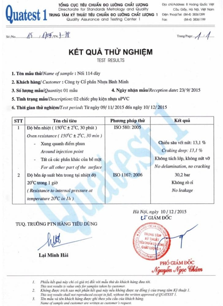 Bang Test Noi Upvc Binh Minh